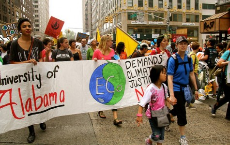 Students protest climate policies in New York City