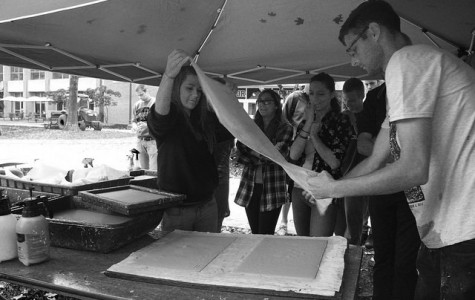 Students get hands on with Combat Paper Project