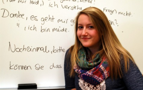 German teaching assistant completes first semester at Allegheny