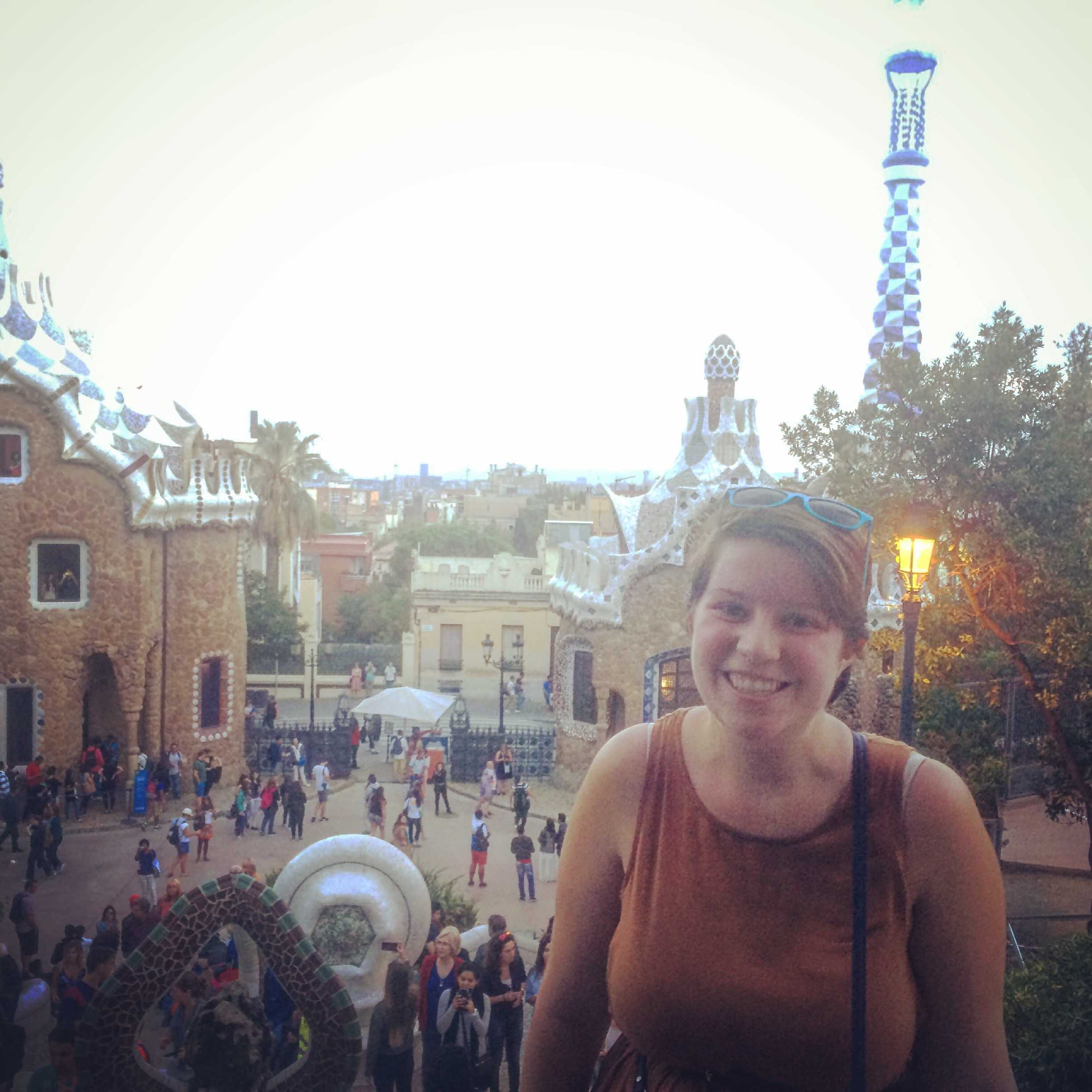 Amy Currul, '17, visits the Parc Guell, one of her favorite spots in Barcelona.