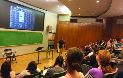 Math professor gives back-to-back talks