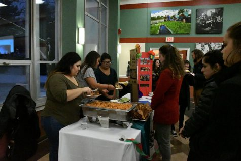 The Mexican table was one of the most popular of the night, where attendees lined up to taste open-face tacos with rice, sour cream and crispy shells.