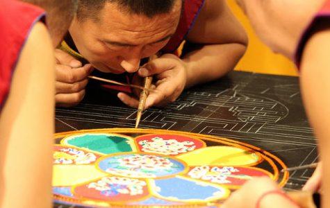 Tibetan Monks create sand mandala for 'Year of Mindfulness'