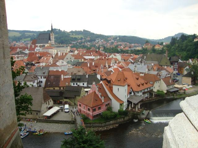 Roppo visited the town of Ceský Krumlov, which is known for its picturesque castle. Photo by Meagan Roppo.