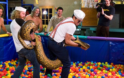 You never know what's going to pop out of a pit of balls when these jackasses are involved. We're surprised it didn't come straight out of Johnny Knoxville's pants. geektyrant.com