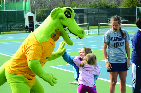 We've all wondered who brings Chompers to life. Photo by Charlie Magovern/The Campus
