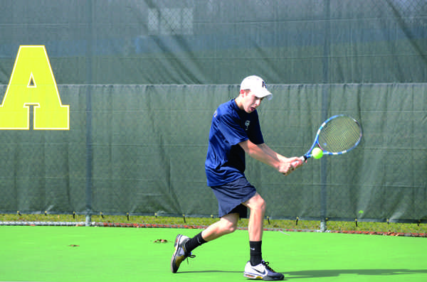 Patrick Cole is 6-2 this spring, and will try to stay hot despite not playing a match since April 7. Two wins this weekend will give the Gators the No. 2 seed in the NCAC tournament. Photo by Charlie Magovern/The Campus
