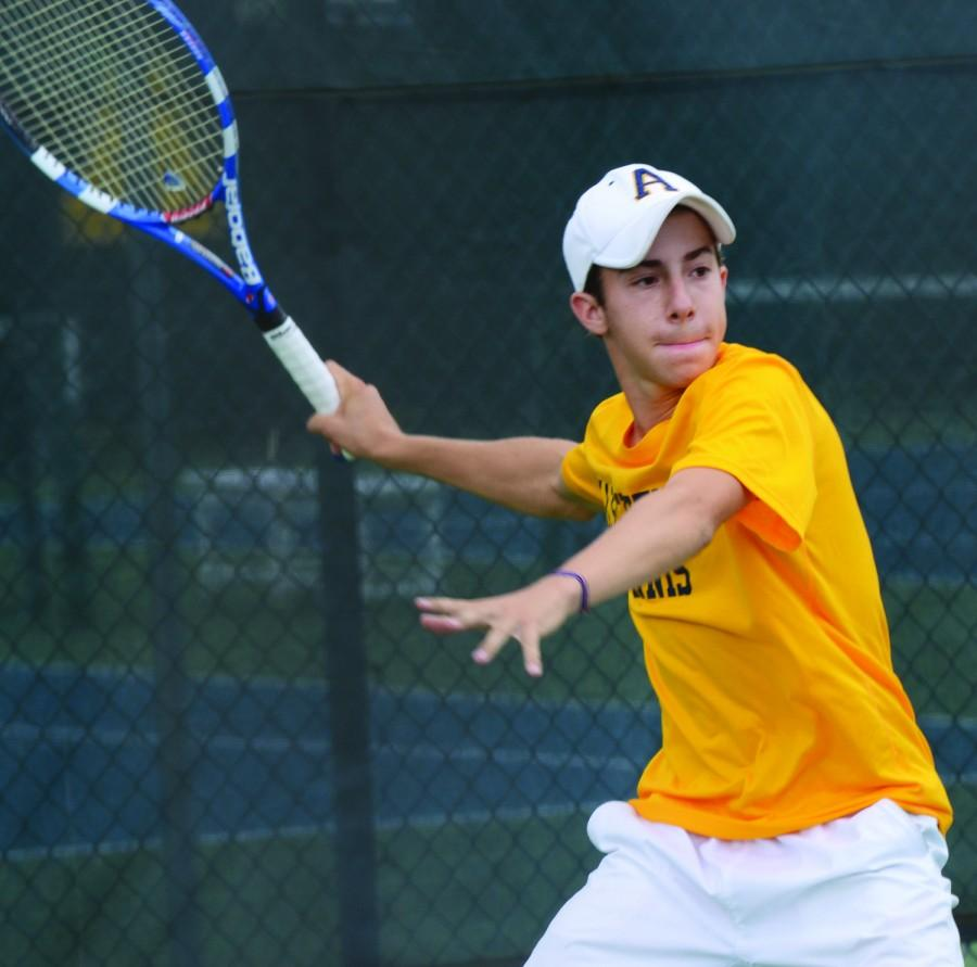 Patrick Cole, '14, worked his way to the No. 1 singles position on the team last season with an 18-4 record. CHARLIE MAGOVERN/THE CAMPUS