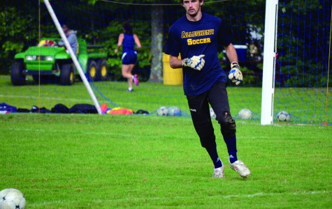 John Lichina, '14, recorded two shutouts last weekend against Centre College and John Carroll. Last year he led the conference in saves and has stopped 12 shots in the first three games of the season. CHARLIE MAGOVERN/THE CAMPUS