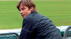 Brad Pitt shines as manager Billy Beane, but he can't carry the film on his own. Photo courtesy of Sony Pictures.