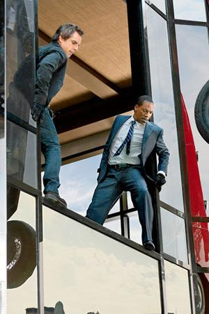 Ben Stiller and Eddie Murphy star in the film as Josh Kovacs, the heist gang leader and the thief Slide, Kovacs' childhood friend. These well-known actors provide some of the humor, but their performances are truly bolestered by the supporting cast. Courtesy of Universal Pictures.