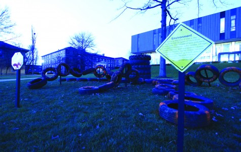 SEA's tire octopus on the Gator Quad, created to protest the proposed tires-to-energy plant. CODY MILLER/THE CAMPUS