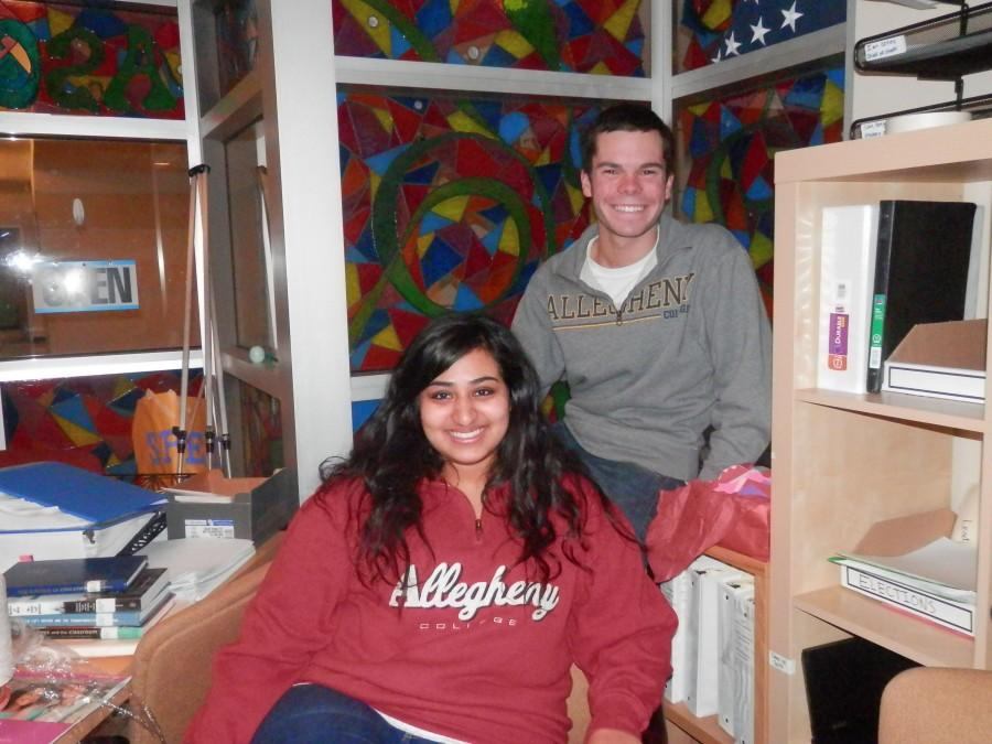 Newly-elected student body president Kevin Crooks, '15, and vice president Gena Thomas, '15, sit in the ASG office on Tuesday, Feb. 19, 2013.