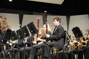 Scott Kirk 14' playing bassoon in the Wind Symphony concert.
