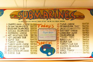 The Whole Darn Thing offers 28 menu items and two specials every day.  Each sub has a distinctive taste at a low cost. CAITIE MCMEKIN/THE CAMPUS
