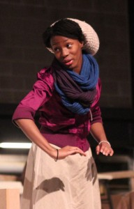 Maya Jones, '14 is performing as the central character Julia in Wedding Band as part of her senior project. CAITIE MCMEKIN/THE CAMPUS