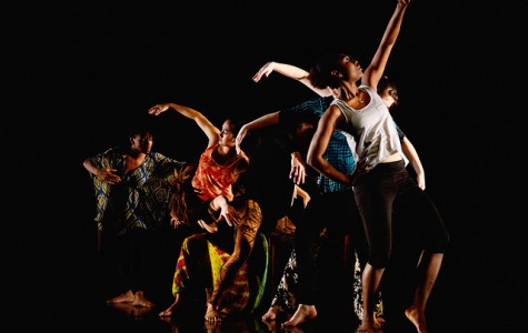 """AMASA SMITH/THE CAMPUS Students perform a piece entitled """"Movement Right: Voices of Embodying Democracy"""" in the Dance and Movement Studies spring concert in the Montgomery Performance Space. The concert is being performed April 10, 11 and 12 at 8 p.m."""