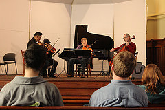 Quartet performs with local professor