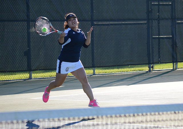 Sun+Mo+Koo%2C+%2716+%28pictured%29%2C+and+her+partner+Sloane+Prince%2C+%2716%2C+won+their+doubles+match+on+Tuesday%2C+Sept.+23+at+Robertson+Tennis+Complex.+Despite+their+win+the+Allegheny+Women%27s+Tennis+Team+closet+out+their+season+with+6-3+loss+to+John+Carroll+University.+They+will+play+again+of+Feb.+7+against+Case+Western+Reserve+University.
