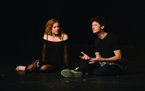 Quinn Kobelak, '16, and Mary Lyon, '17, were in the first group to perform on Saturday. Participation in the festival was open to everyone, no experience necessary.