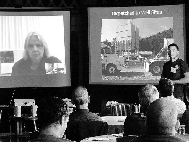 Alistair Macdonald, '83, discussing during a symposium field trip.