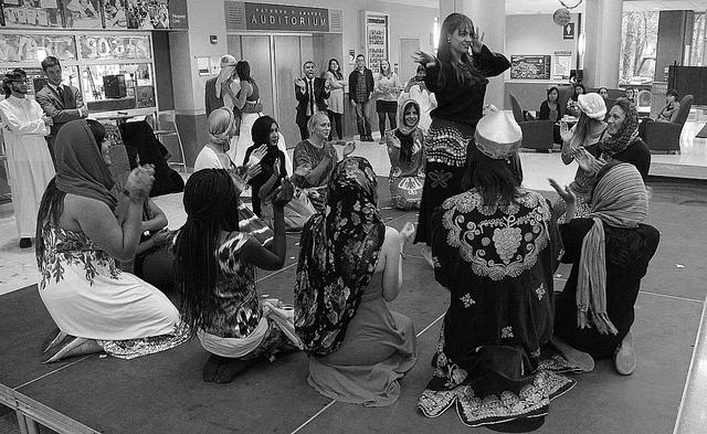 Students from Arabic language classes dressed up in traditional clothing and danced in the Campus Center on Oct. 8.