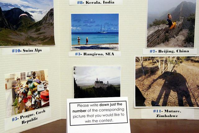 Students who studied abroad submitted photos from their experiences to the  program's photo contest. Those who attended the International Coffee Hour in Reis Hall voted on his or her favorite on Nov. 19.