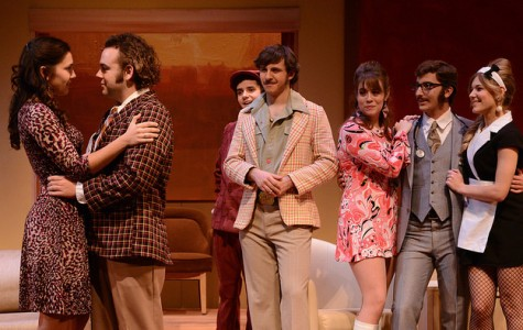 """Allegheny College College Playshop Theatre opens their fall 2014-2015 season with """"A Flea in Her Ear,"""" directed by Mark Cosdon. The play is a new version of Georges Feydeau's Farce by David Ives and is set in in early 1970s Paris."""