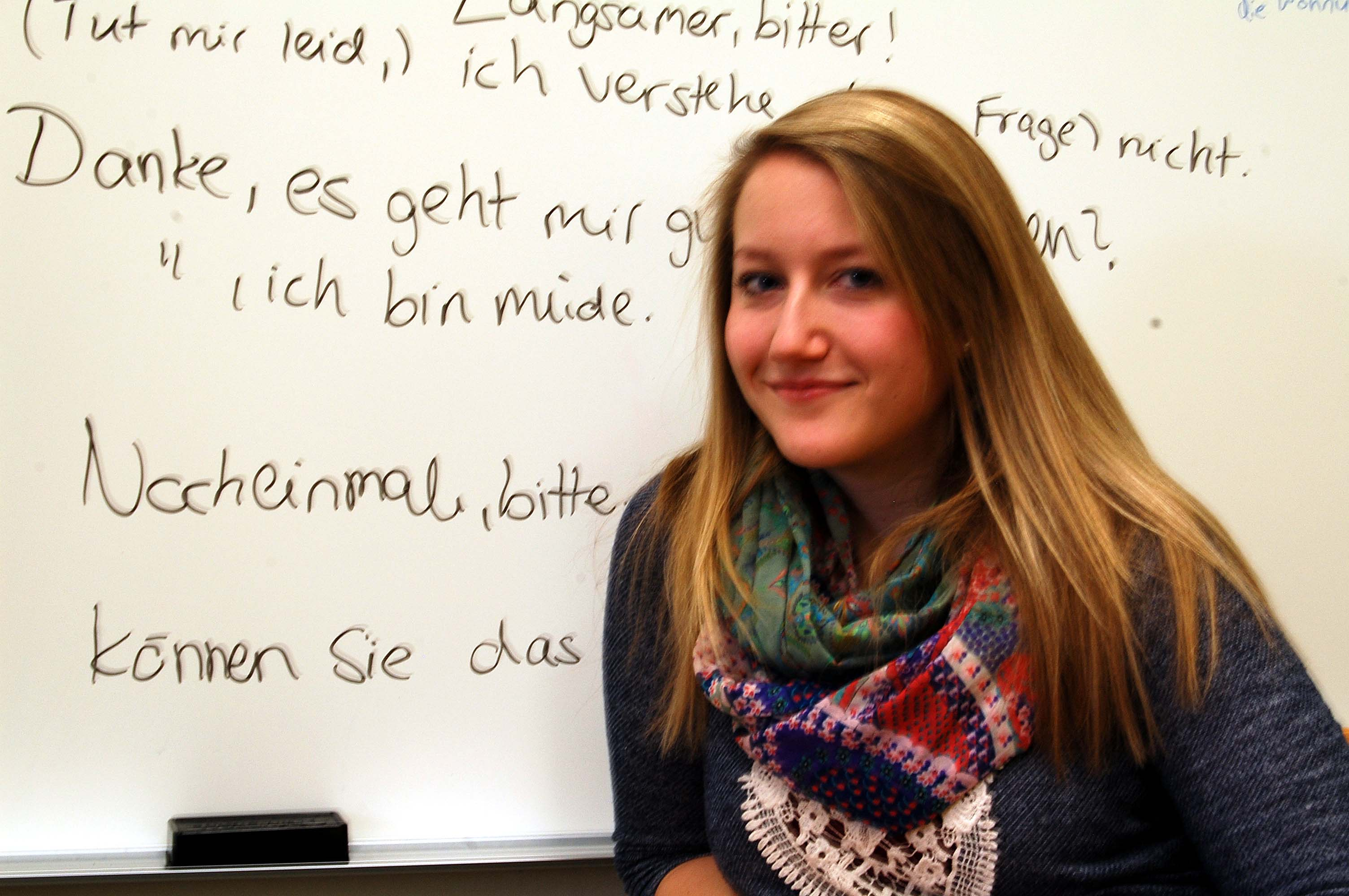 Katharina Schulz came to America from Cologne, Germany for a semester of teaching and studying with the Pennsylvania Colleges in Cologne program.