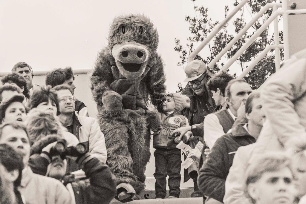 The gator mascot has been at Allegheny for the past 90 years with a variety of different looks. Not originally known as Chompers, the gator Stevie was a staple of the college. This version of the mascot is from 1987.