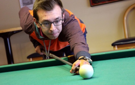 Students beat the winter weather with fun in the game room