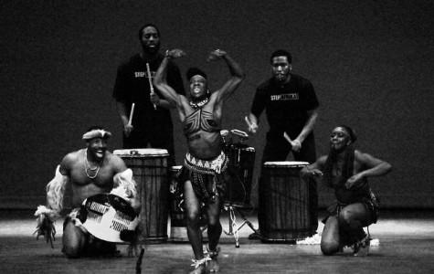 Step Afrika! stomps Shafer stage