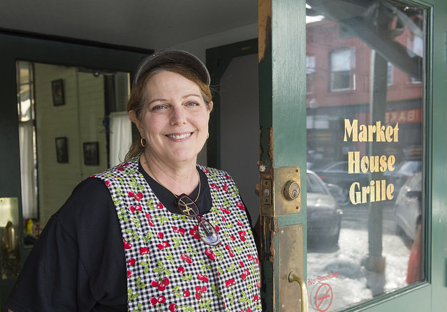 Since 2009, Meadville resident Cindy Thompson has operated the Market House Grill in downtown Meadville. As most of its regulars agree, there are few places like it in Meadville or anywhere nearby. Thompson's staff of mostly women do their best to make the establishment a gathering place with good, home-made food and friendly faces. Photo by Andy Colwell