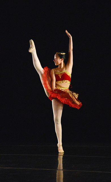"""Yilin Zhu, '17, was one of the dancers who performed in """"Don Quixote."""" Her dance was inspired by Esmeralda from The Hunchback of Notre-Dame."""