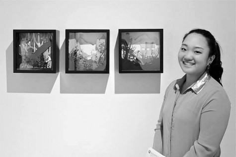 "Sun Mo Koo,' 16, won Doane Prize in Sculpture and Ceramics and a purchase award for her art work ""Encased Imagination."""