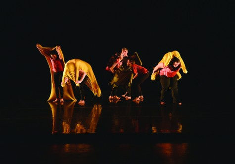 """Dancers perform """"Earth Potential: Glomalin and Carbon Sequestration"""" conceived and directed by Eleanor Weisman."""