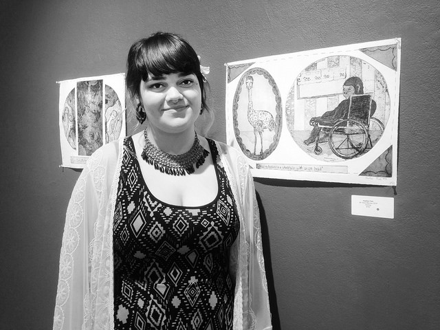 Heather Fish, '15, won Doane Juror's Prize, First Place in Graphics, and a purchase award for her art work