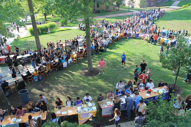 Clubs and student organizations lined the gator quad during the involvement fair on Thursday Aug. 27.