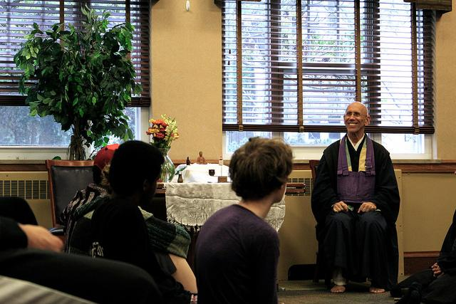 Claude AnShin Thomas, an ordained Zen Buddhist Monk hosted a workshop and talk with the college community on Saturday, Sept. 12, 2015.