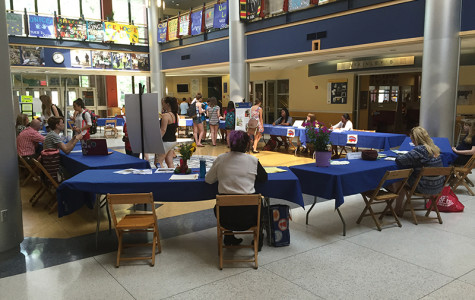 The Student Job Fair took place in the Campus Center on Sept. 2.  Many organizations on campus that still need student workers set up tables and gave out information.