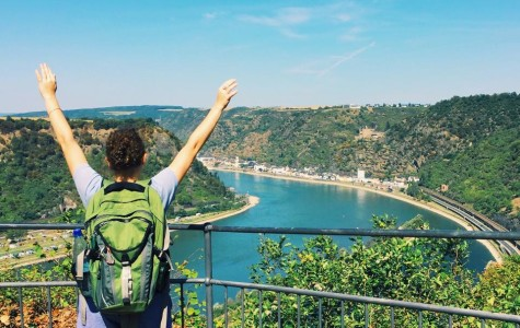 Maggie Duggan, '17, stands on top of the Loreley, a fabled cliff south of Koblenz, Germany. The Loreley is a siren who lures sailors into the rocks. Duggan is studying abroad in Cologne, Germany.