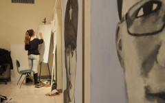 The Boxx is a student run art gallery that allows students to consolidate their pieces in an exhibition space. The gallery is divided by white walls, providing privacy and enough separation between different student artists.