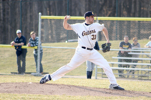 Pitcher Chase Boyer, '17, started the game against John Carroll University and struck out a career-high 11 batters and allowed five baserunners in 6.1 innings.
