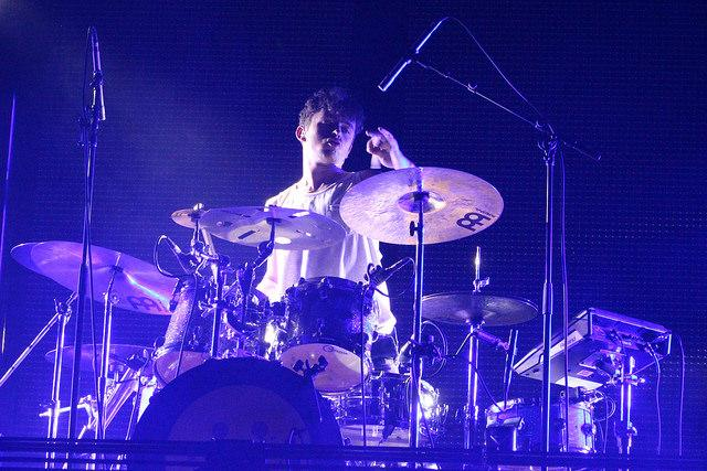Jimmy Kadesch, drummer for Hoodie Allen, plays a solo mid-show on March 5, 2016.