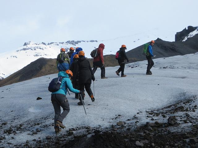 During+their+study-to-work+tour%2C+Allegheny+faculty+and+staff+hike+a+glacier+located+along+the+southern+coast+of+Iceland.