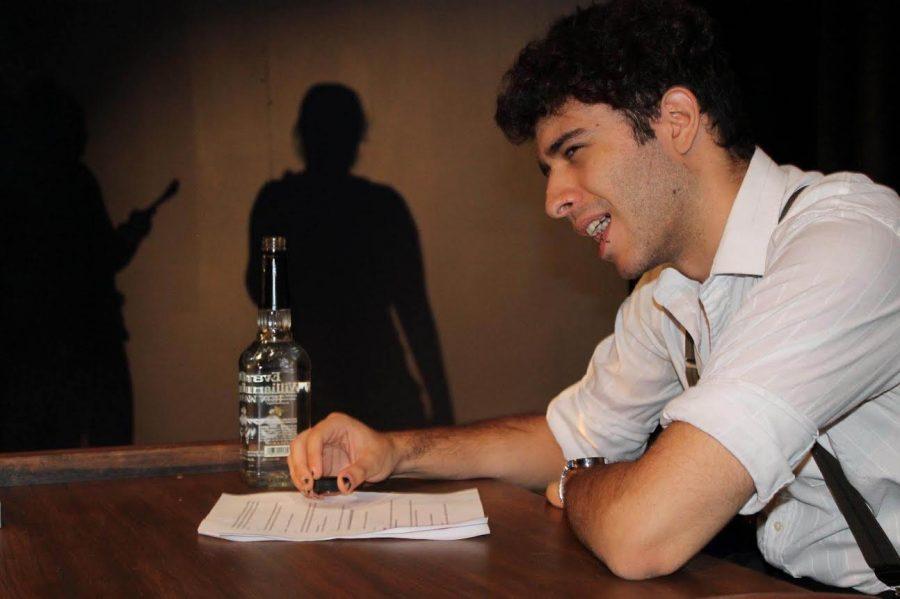 Menachem Lattke, '18, participates in SET's third annual 24 Hour Theatre Fest on Saturday, Sept. 3, 2016 in Arter Little Theatre.