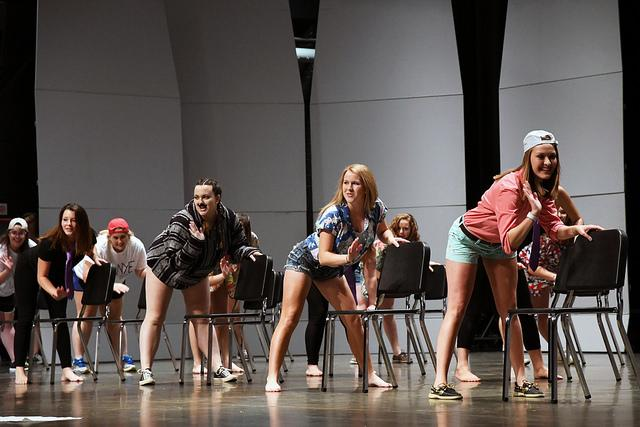 Kappa Alpha Theta did a chair dance that replicated the one performed by Phi Gamma Delta in last year's Greek Sing. For the soritities, Kappa Alpha Theta won second place for its performance and won enough points to take first for Greek Week.