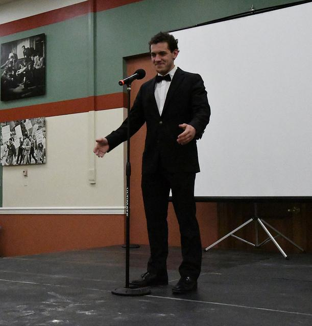 Noah Dawgiello, '19, offered a traditional yodeling performance.
