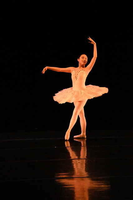 "Yilin Zhu, '17, performs a solo in ""Don Quixote Dream Scene Excerpt,"" which is a ballet dance, during the rehearsal on Wednesday, April 5, 2017."