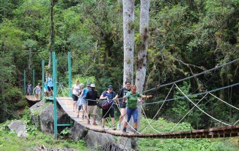 Students hike through Topes de Collantes National Park in the Escambray Mountains, Cuba.